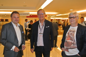 (l-r) Heinz Lichtenegger of Pro-Ject, show organiser Jean-Marie Hubert and UK high-end maven Ricardo Franassovici